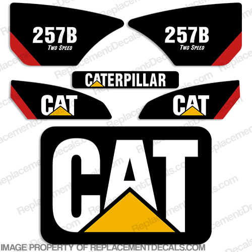 Caterpillar 257B Decal Kit