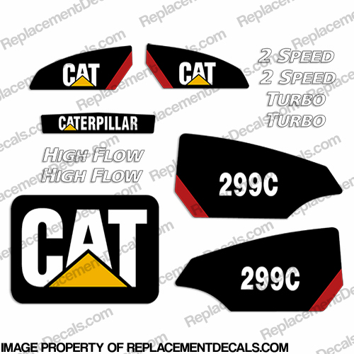 Caterpillar 299C Decal Kit