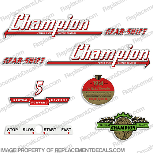 Champion 1954 5hp Golden Jubilee Outboard Decals