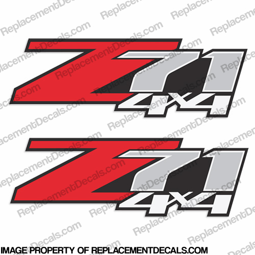 Chevy Silverado Z71 4x4 Truck Decals (Set of 2)