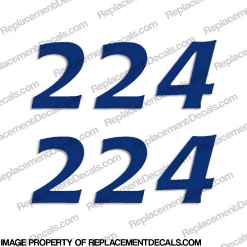 "Cobia Boats ""224"" Decals (Set of 2) - Any Color!"