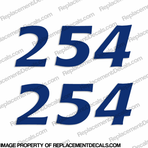"Cobia Boats ""254"" Decals (Set of 2) - Any Color!"