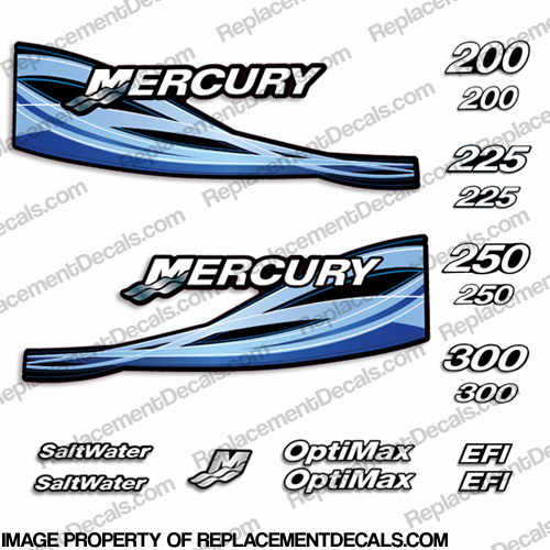Custom Design Mercury Cowl Graphics