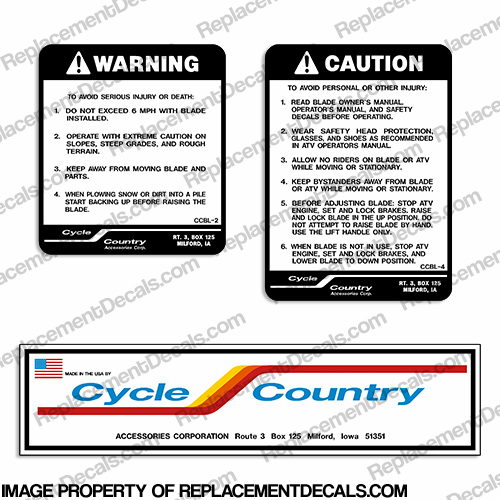 Cycle Country Decal Package