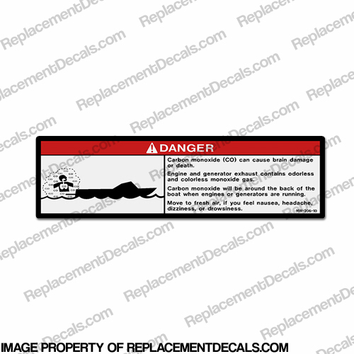 Danger Decal - NW-206-10 Carbon Monoxide...