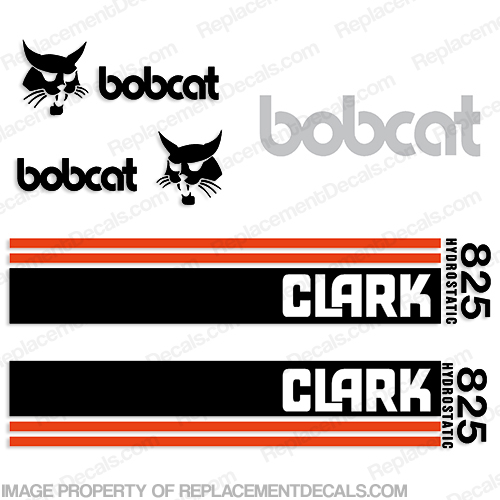 Bobcat Clark 825 Hydrostatic Loader Equipment Decals