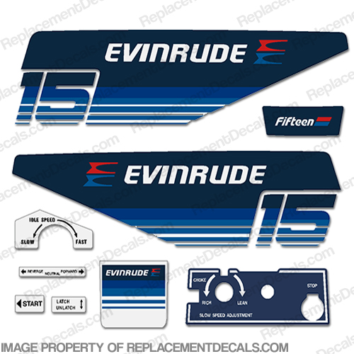 Evinrude 1979 15hp Decal Kit