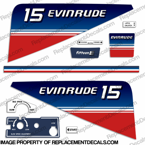Evinrude 1980 15hp Decal Kit