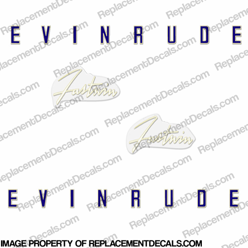 Evinrude 1958 18hp Decal Kit