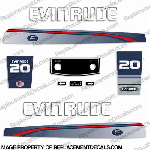 Evinrude 1995-1997 20hp Decal Kit