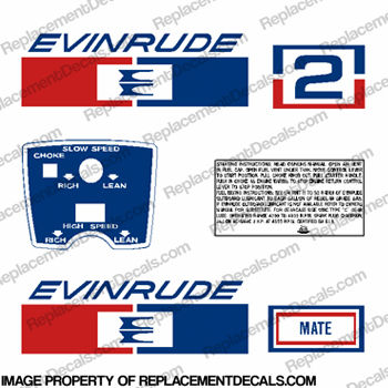 Evinrude 1971 2hp Decal Kit