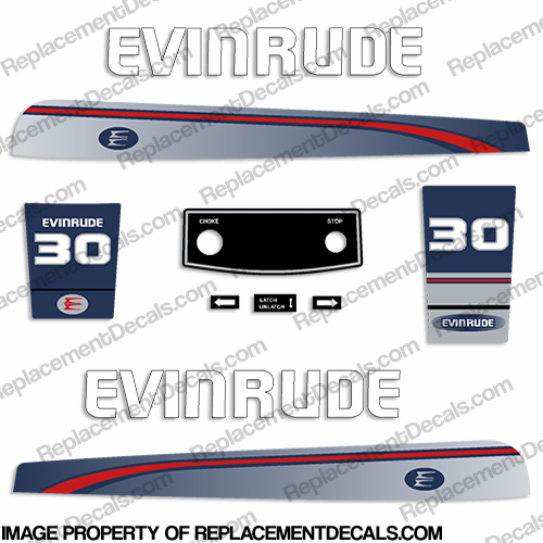 Evinrude 1995-1997 30hp Decal Kit