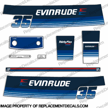 Evinrude 1979 35hp Decal Kit