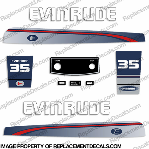 Evinrude 1995-1997 35hp Decal Kit