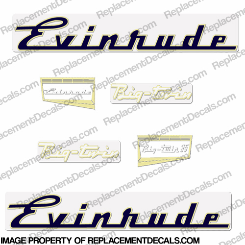 Evinrude 1957 35hp Decal Kit