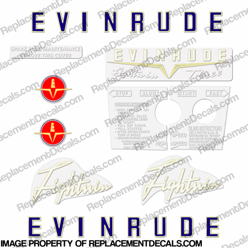 Evinrude 1958 3hp Decal Kit
