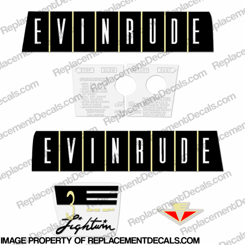 Evinrude 1960 3hp Decal Kit