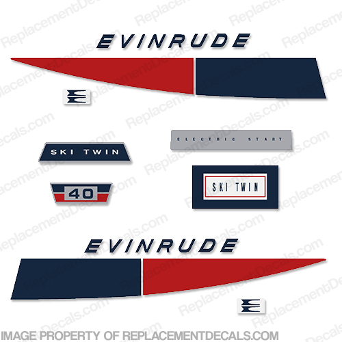 Evinrude 1971 40hp Decal Kit