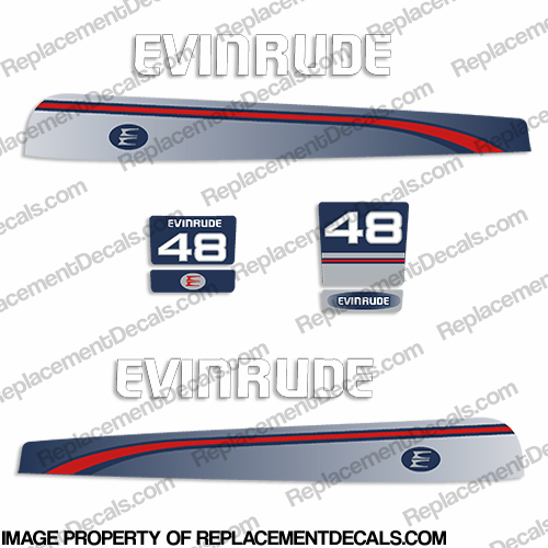Evinrude 1995-1997 48hp Decal Kit