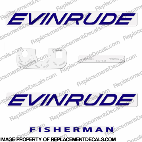 Evinrude 1961 5.5hp Decal Kit