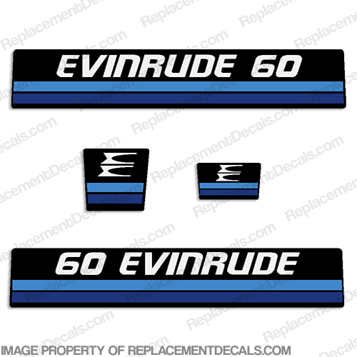 Evinrude 1982 60hp Decal Kit