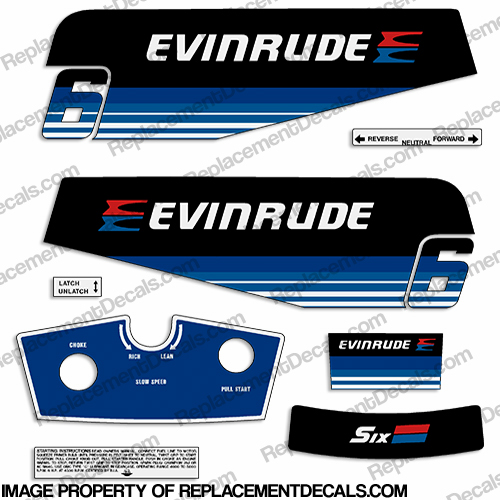 Evinrude 1979 6hp Decal Kit