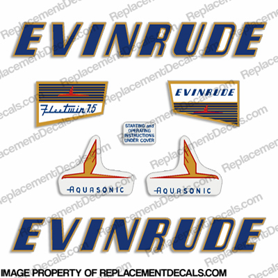 Evinrude 1955 7.5hp Decal Kit
