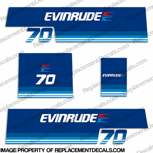 Evinrude 1979 70hp Decal Kit