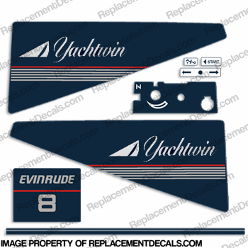 Evinrude 1986 8hp Decal Kit