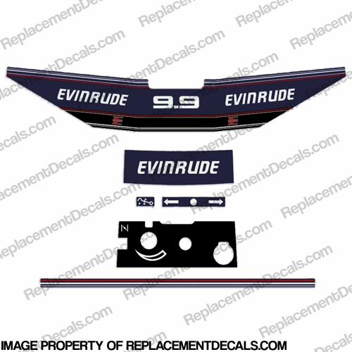 Evinrude 1992 - 1993 9.9hp Decal Kit