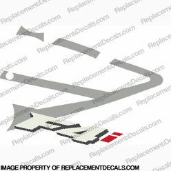 "F4i Right Mid Fairing Decal (Silver/Red ""i"")"