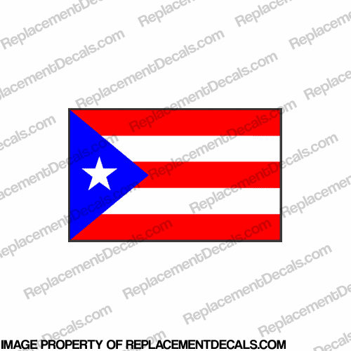 Flag Decal - Puerto Rico 6""