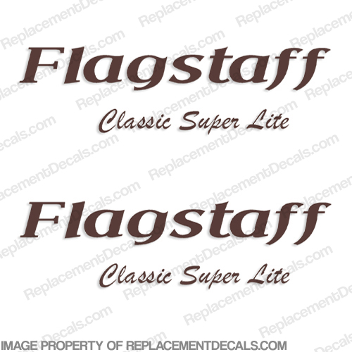 Flagstaff Classic Super Lite RV Logo Decals (Set of 2) Any Color!