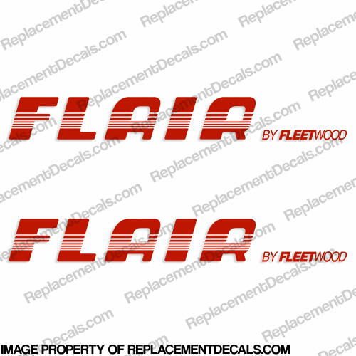 Fleetwood Flair RV Decals (Set of 2) - 1996