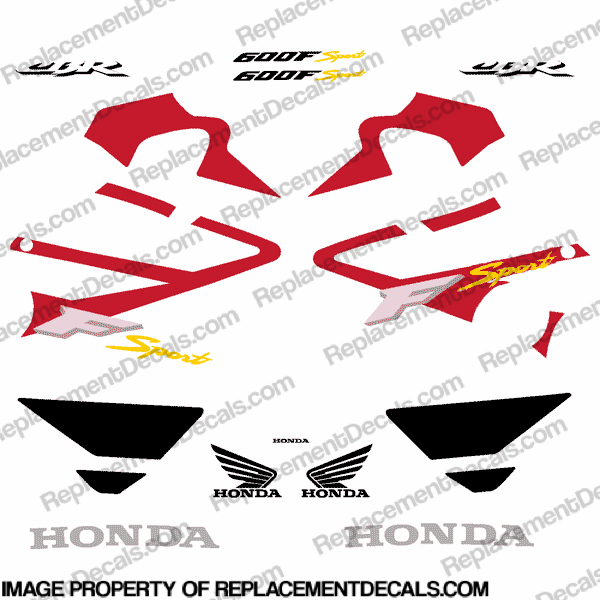 600FSport Full Replica Decal Kit - Red/Black