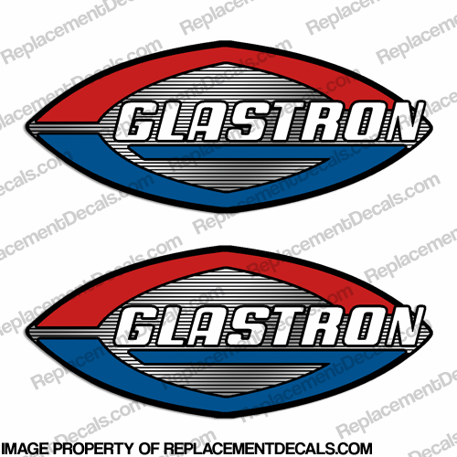 Glastron Boat Decals (Set of 2) - Chrome Accents