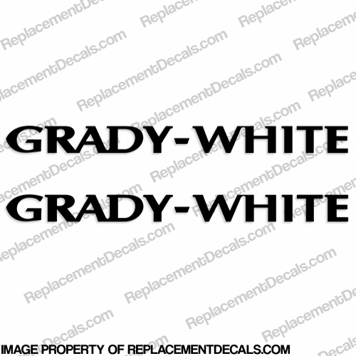 Grady White Boat Decals (Set of 2) - Any Color!