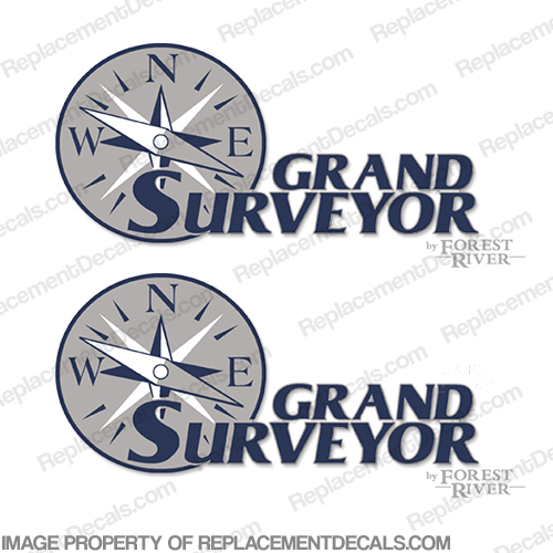 Grand Surveyor by Forest River RV Decals (Set of 2)
