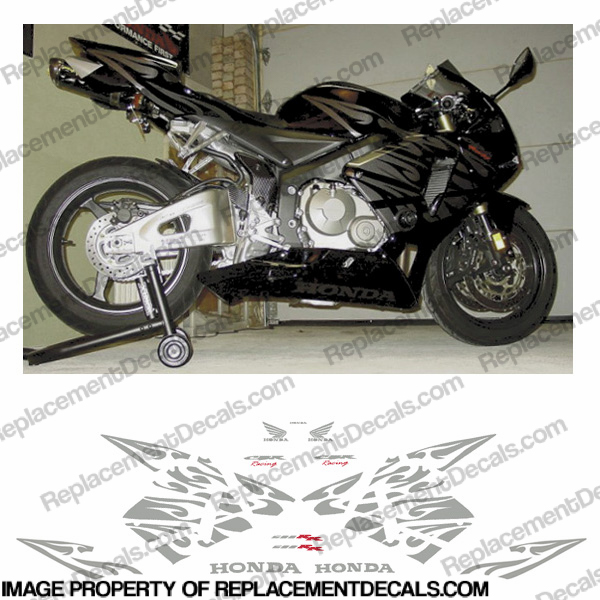 600RR Complete Custom Tribal Kit - Silver