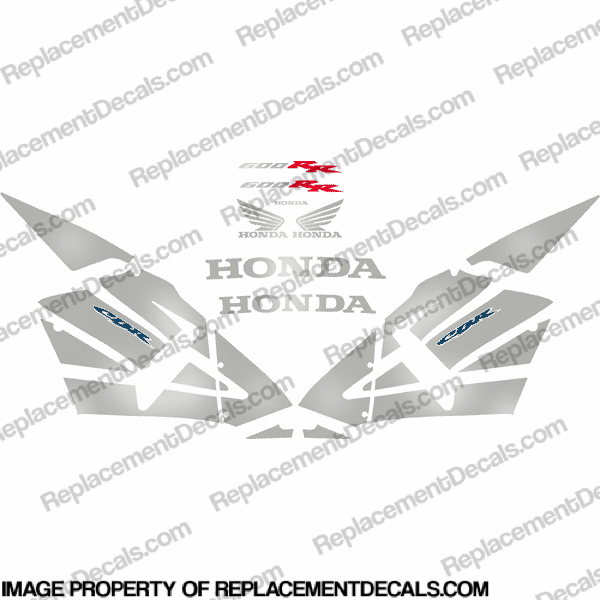 600RR Full Replica Decal Kit 05-06 - Chrome