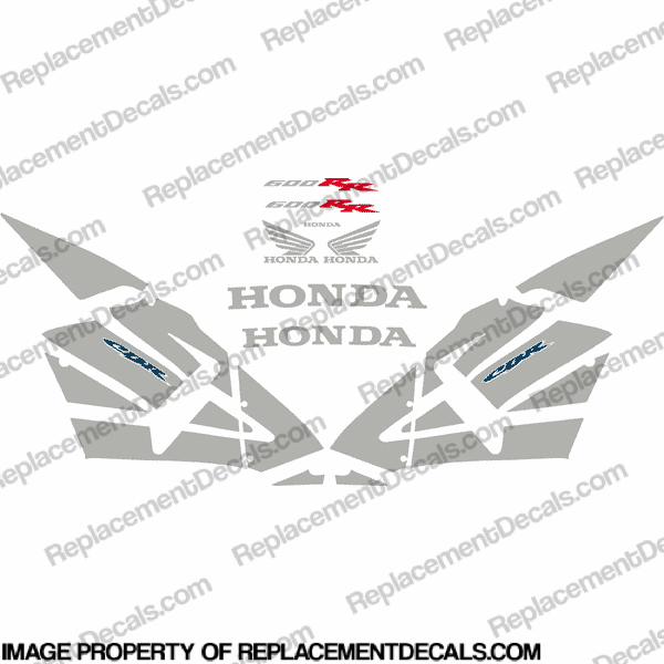 600RR Full Replica Decal Kit 05-06 - Silver