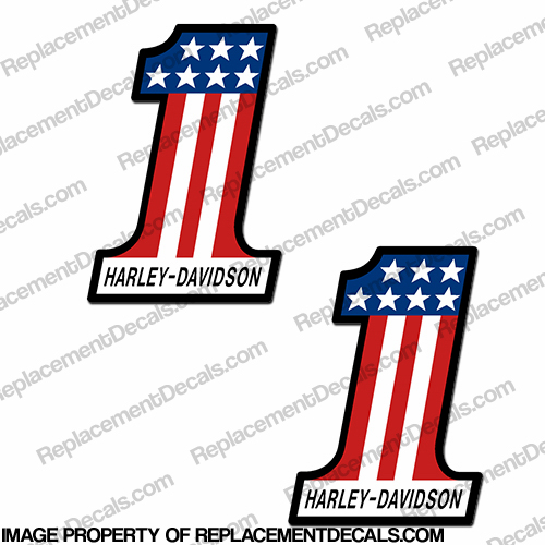 AMF (Harley-Davidson) #1 Decals - Set of 2