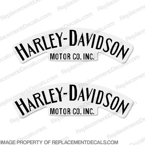 harley-davidson fuel tank decals single color  set of 2  - style 1