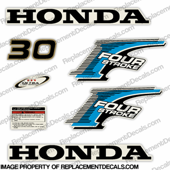 Honda 30HP Fourstroke Decal Kit - Newer Style