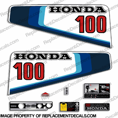 Honda 10HP Outboard Decal Kit - 1982