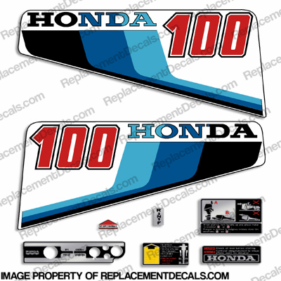Honda 10HP Outboard Decal Kit - 1983
