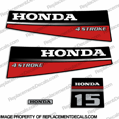Honda 15HP Outboard Decal Kit - 1987 - 1989