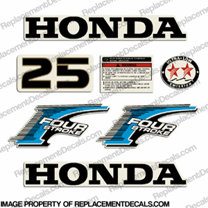 Honda 25HP Fourstroke Decal Kit - Newer Style