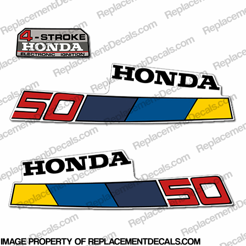 Honda 5HP Outboard Decal Kit - 1985 - 1986