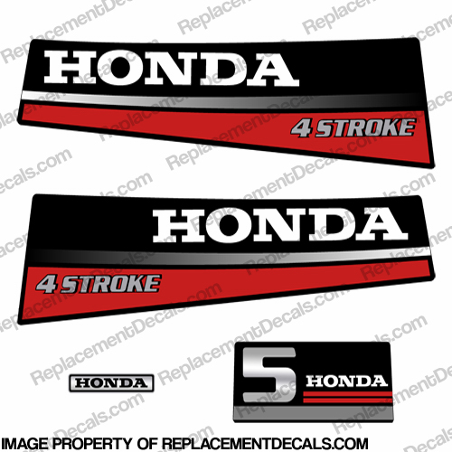 Honda 5HP Outboard Decal Kit - 1987 - 1989